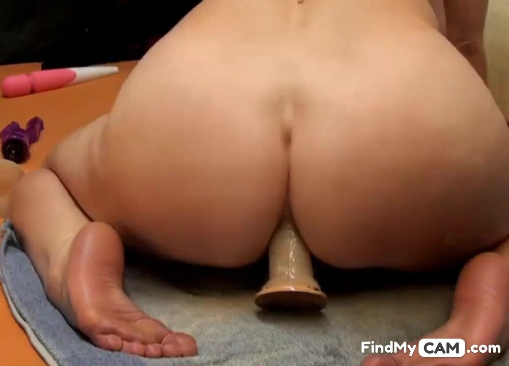 Hot 45 year old MILF with big ass rides dildo (no sound)