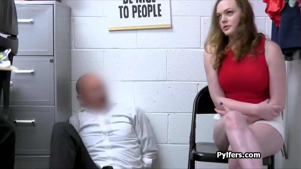 Curvy thief fucked by two horny officers